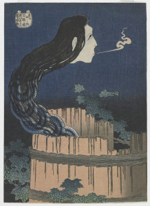 KATSUSHIKA HOKUSAI (Japanese, 1760 - 1849) The Dish Mansion, from the series One Hundred Ghost Tales